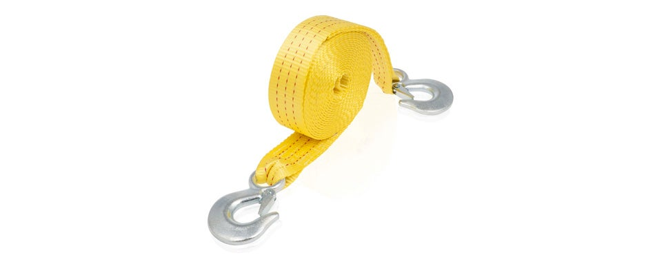 neiko heavy duty tow strap with safety hooks