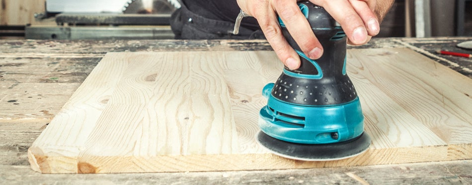 working with random orbit sander
