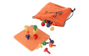 skoolzy peg board set travel toy for toddlers
