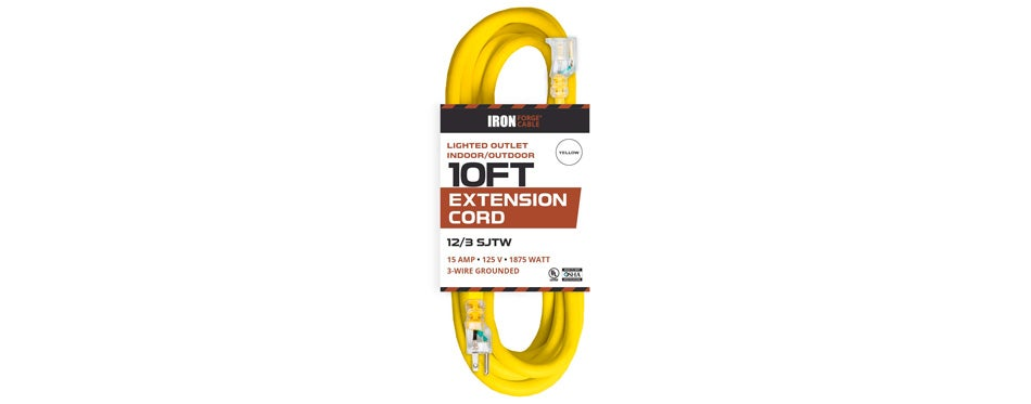 Iron Forge Cable Lighted Outdoor Extension Cord