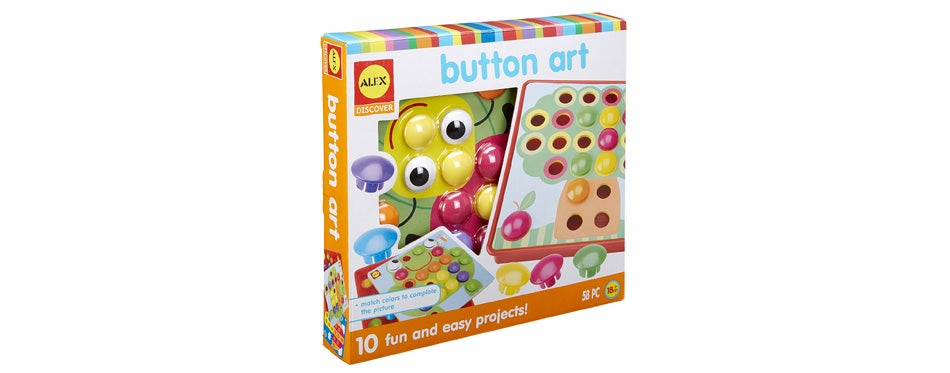 alex discover button art travel toy for toddlers