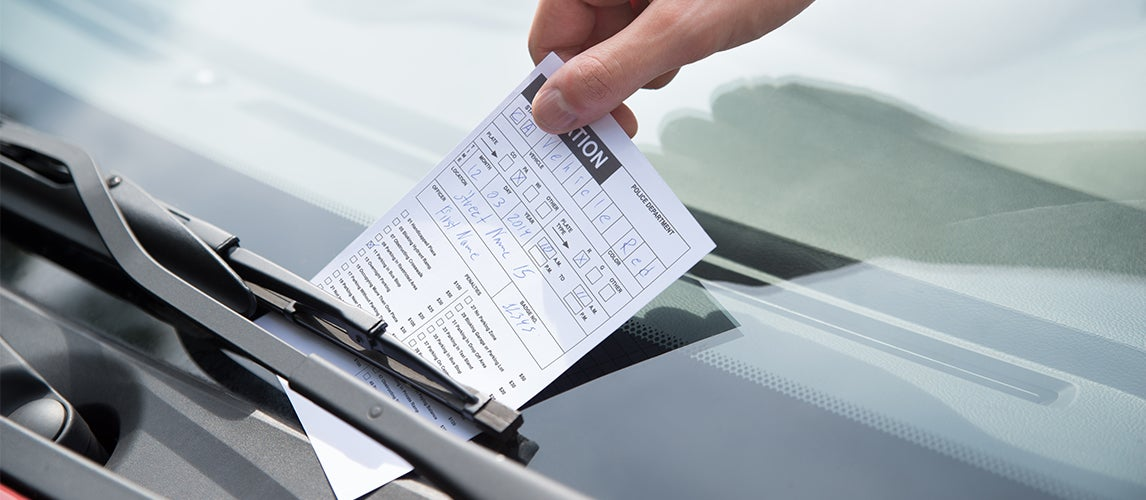 contesting a parking ticket