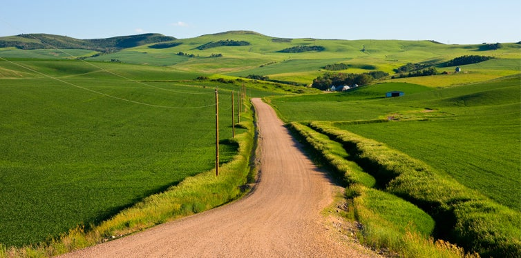 country road in idaho