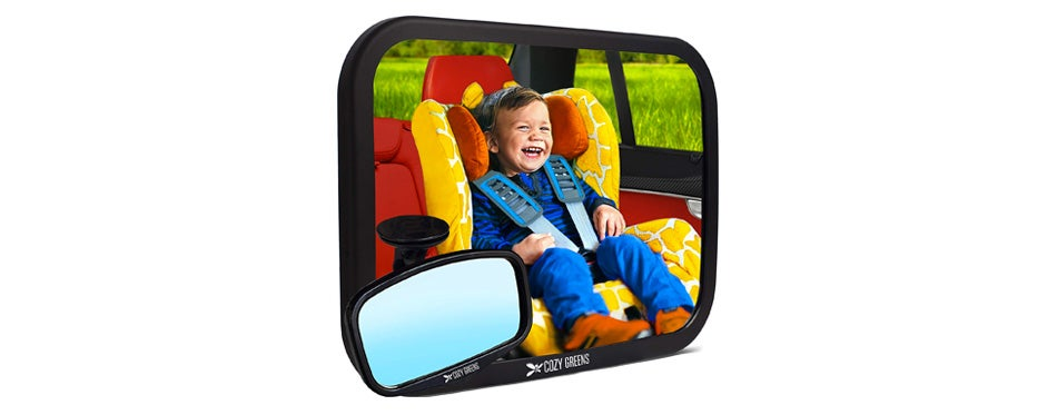 cozy greens baby car mirror
