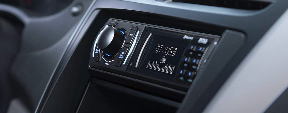 single din stereo in car