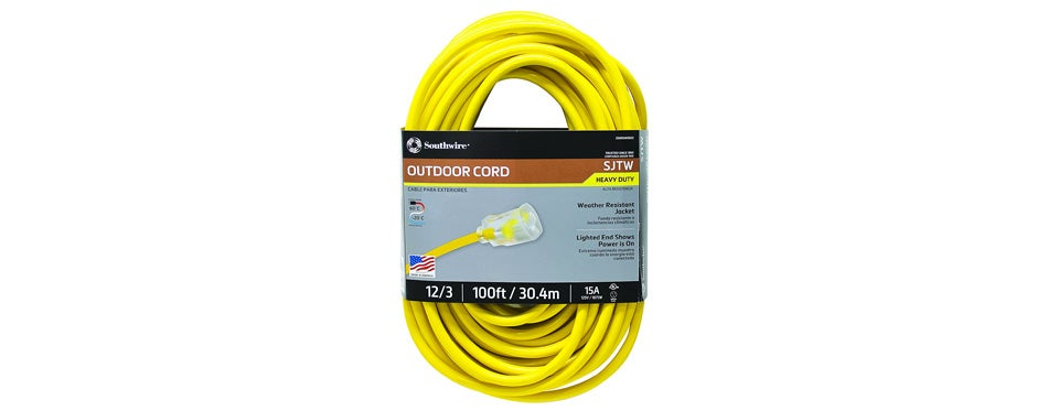 southwire 100 ft outdoor extension cord