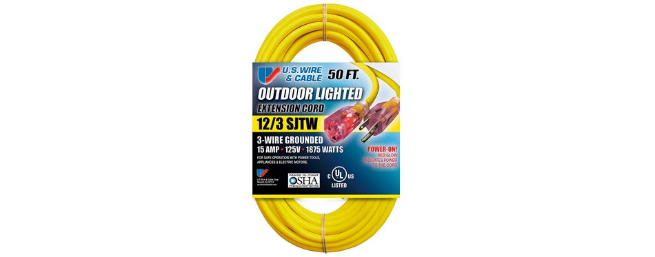 us wire and outdoor extension cord