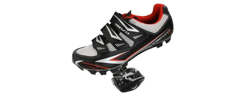 venzo mountain bike shoes & pedals