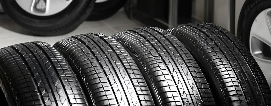 Tires in service center