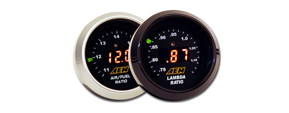 aem 2 wideband gauge display set