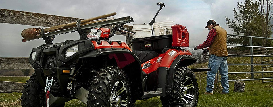 atv with gun racks