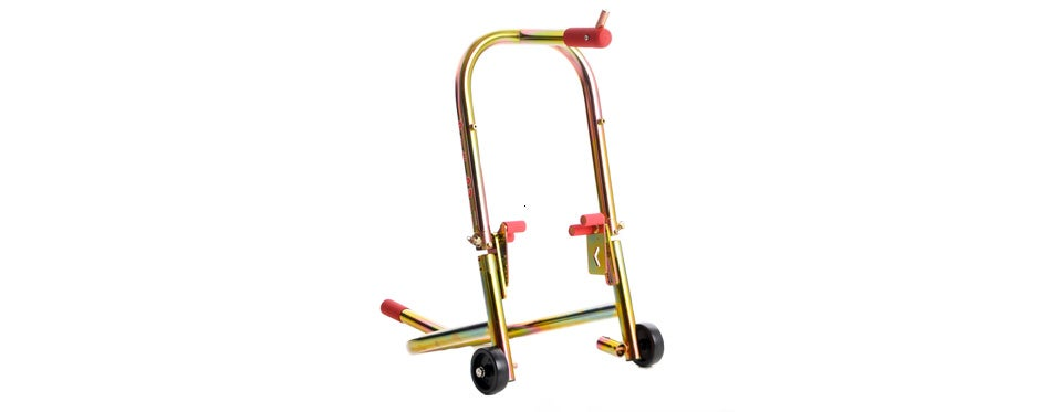 pit bull hybrid dual lift front motorcycle stand