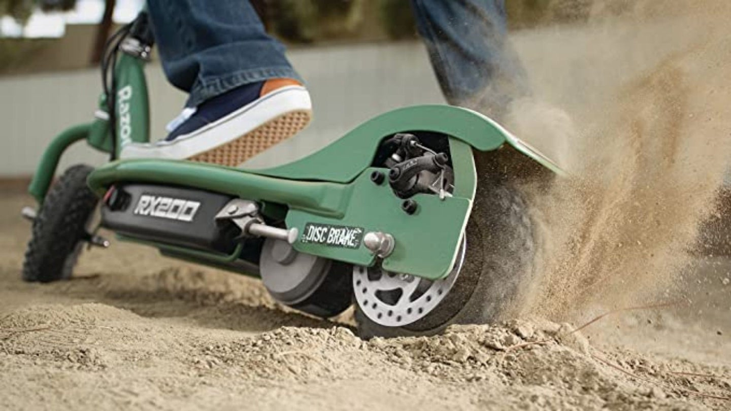 Off-Road Electric Scooter Close Up