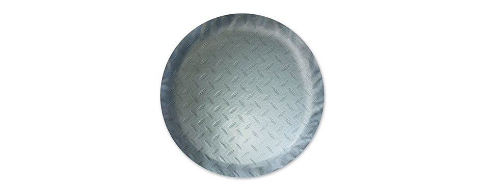 ADCO Silver Diamond Plated Steel Vinyl Spare Tire Cover