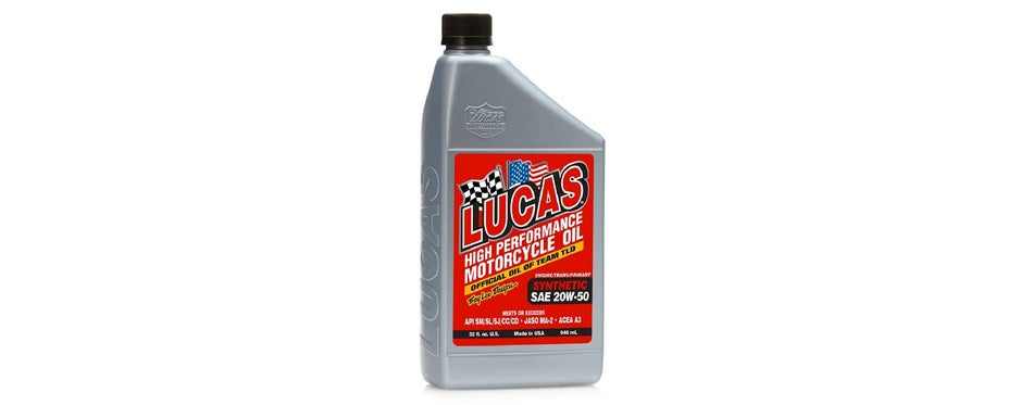 Lucas Oil High Performance Synthetic Motorcycle Oil