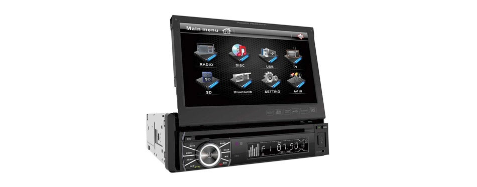 Power Acoustik Flip Out Head Unit
