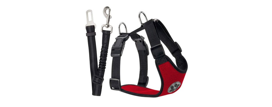 SlowTon Dog Car Harness & Dog Seat Belt