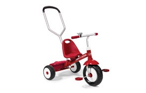 Radio Flyer Deluxe Steer and Stroll Toddler Tricycle