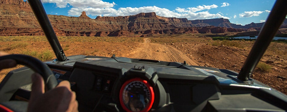 POV off roading with a view