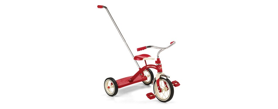 Radio Flyer Classic Toddler Tricycle with Push Handle