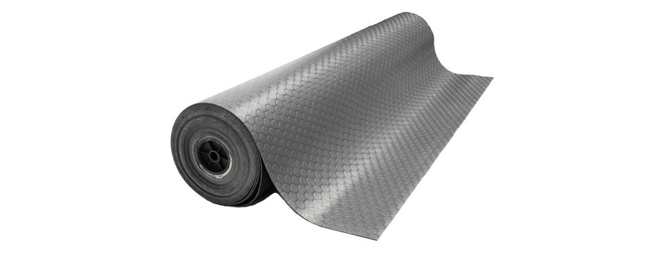 rubber-cal coin-grip flooring and rolling mat