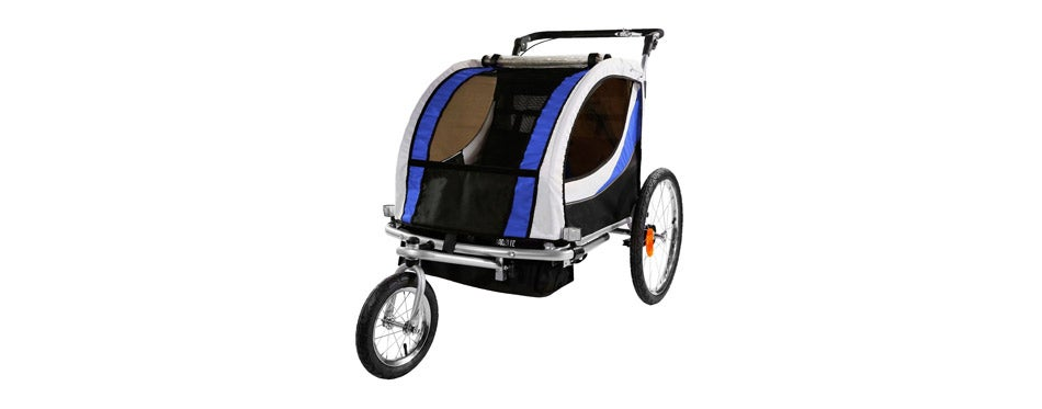 Clevr 2 Seat Double Bicycle Trailer