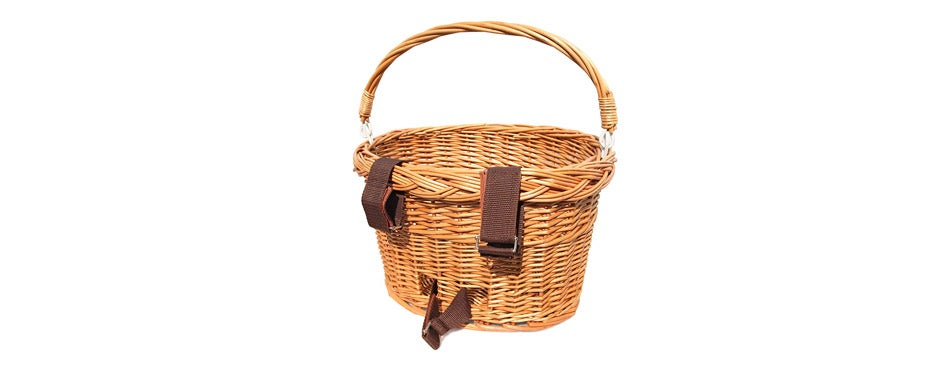 Colorbasket Wicker Bike Basket