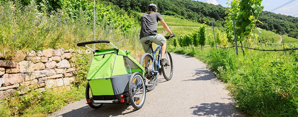Cycling With Bike Trailer