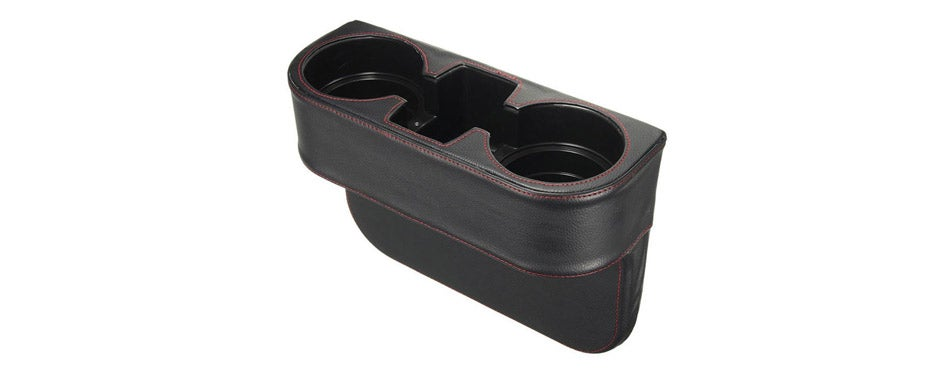 Iokone Leather Cover Car Cup Holder