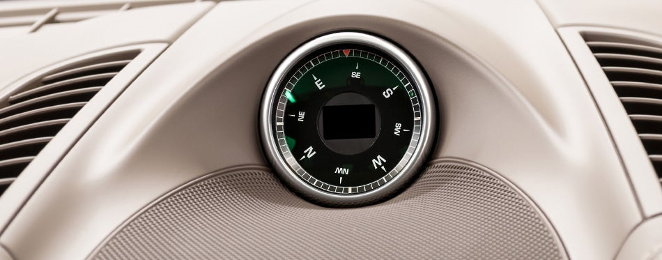 Car dashboard compass