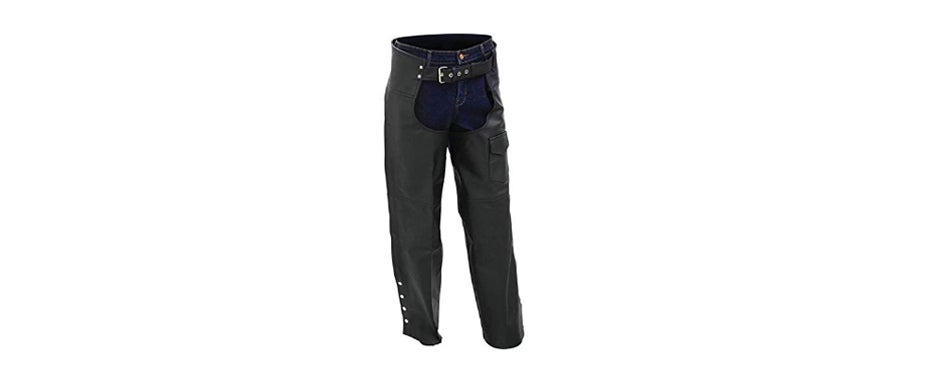 BNF Leather Motorcycle Chaps