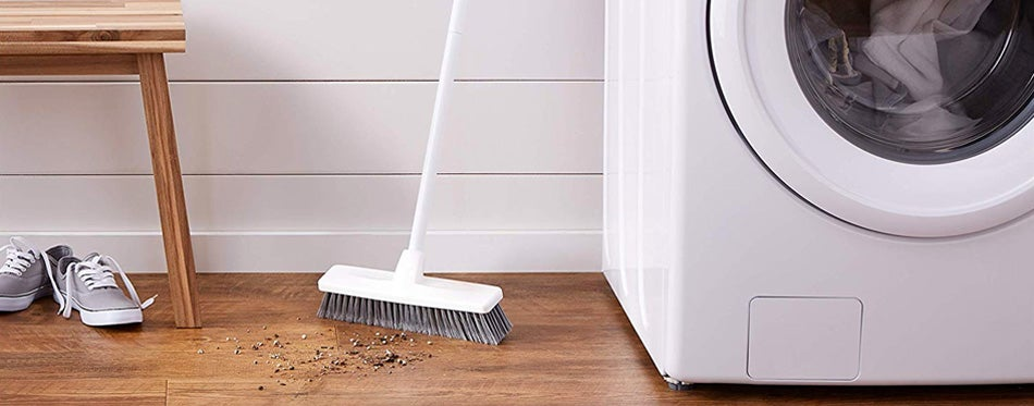 white push broom