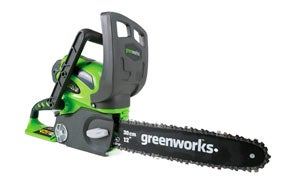 Greenworks 12-Inch Cordless Electric Chainsaw