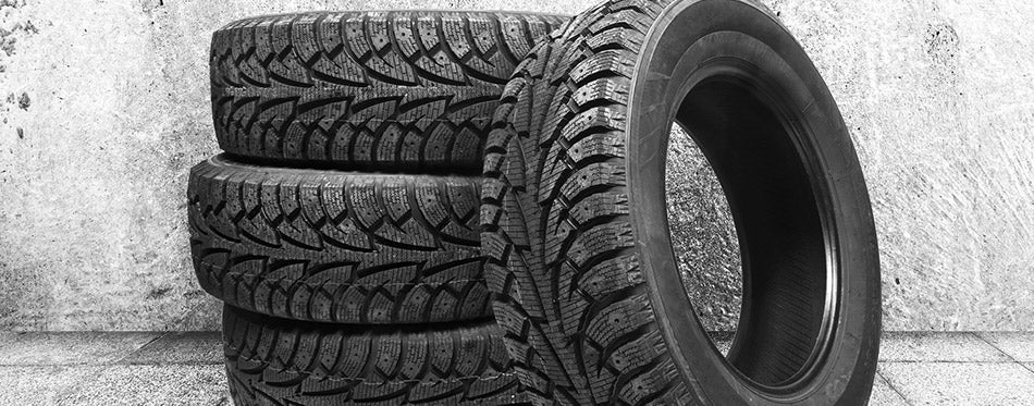 Black winter tyres