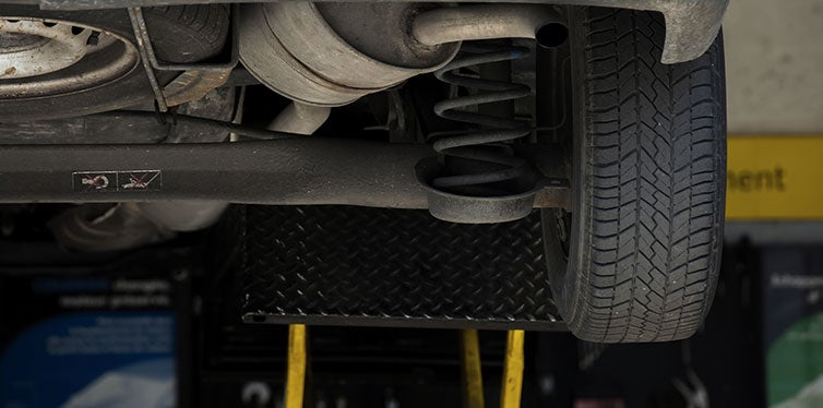 Close Up of shock absorbers