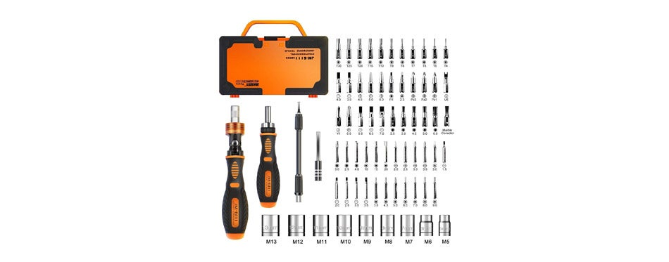 Jakemy Home Rotatable Ratchet Screwdriver Set