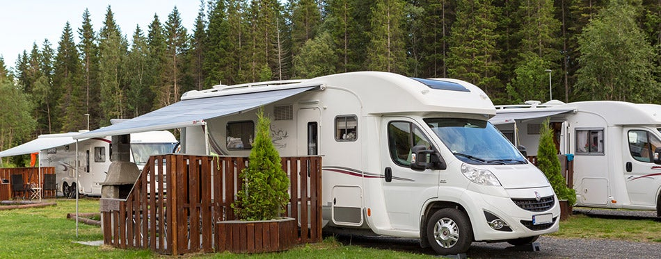 Motorhome at a campsite