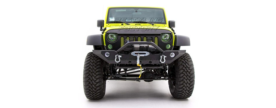Restyling Factory Black Textured Front Bumper