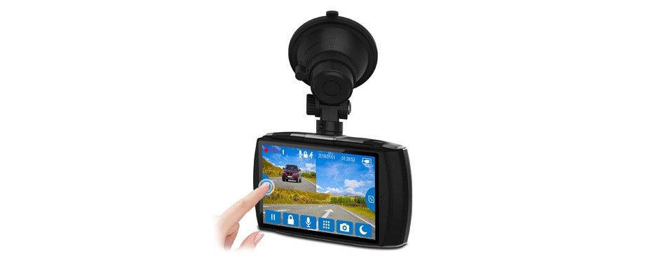 Z-Edge Dash Car Cam Front and Rear