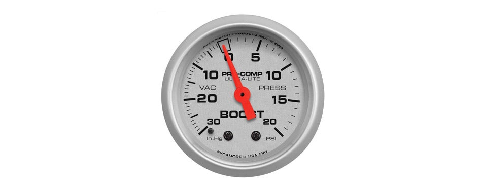 Auto Meter Ultra-Lite Mechanical Boost Gauge