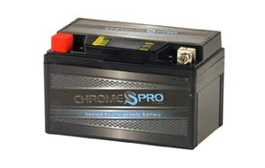 Chrome Battery Rechargeable Harley Battery