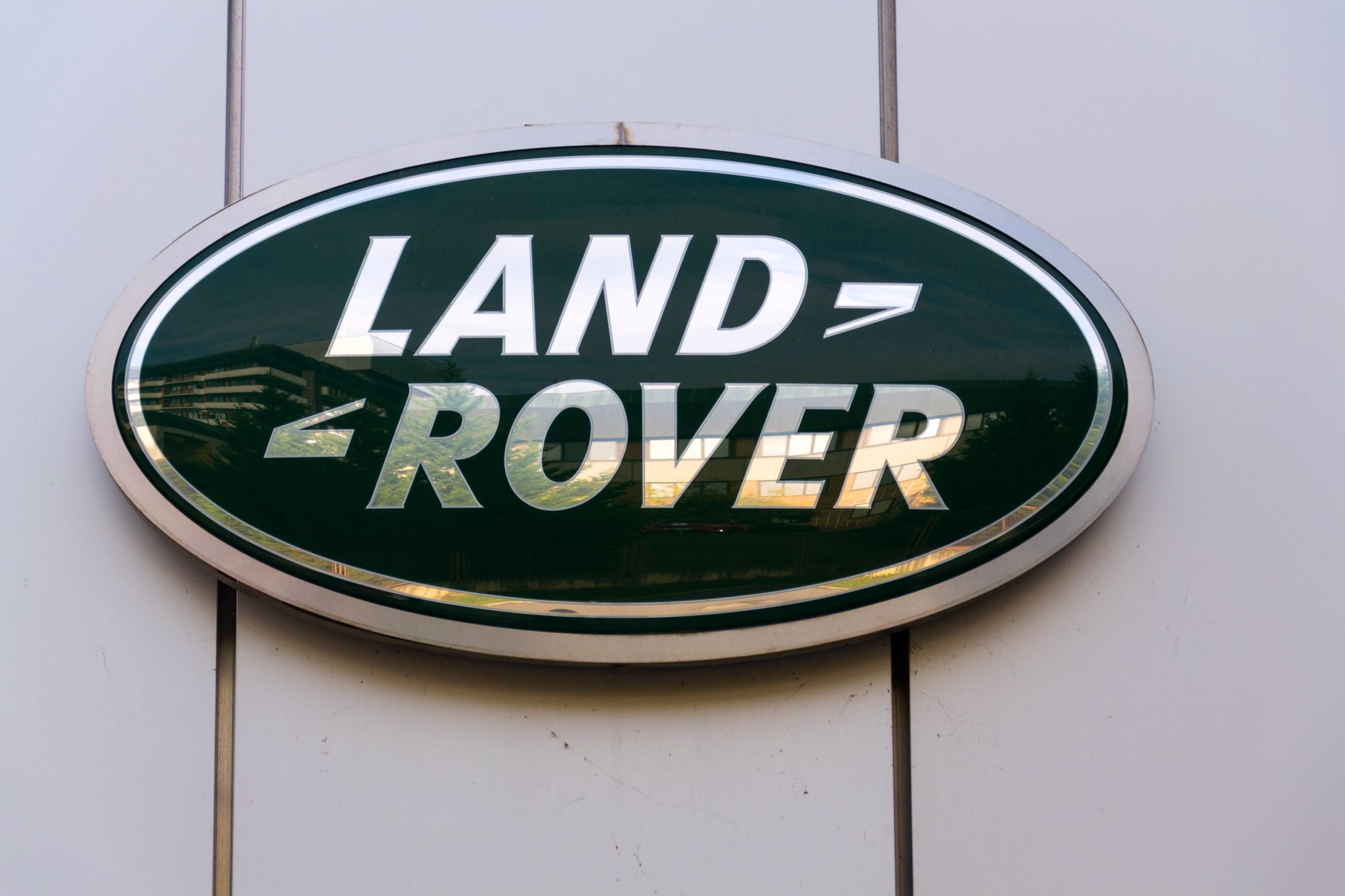 Land Rover Logo on a wall