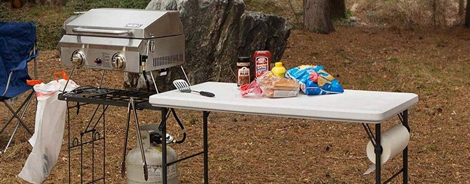 Folding Tailgate Camp Table