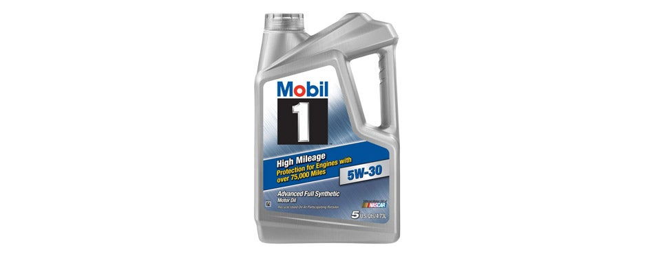 Mobil 1 High Mileage Motor Oil