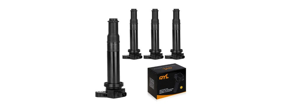 QYL Pack of 4Pcs Ignition Coil