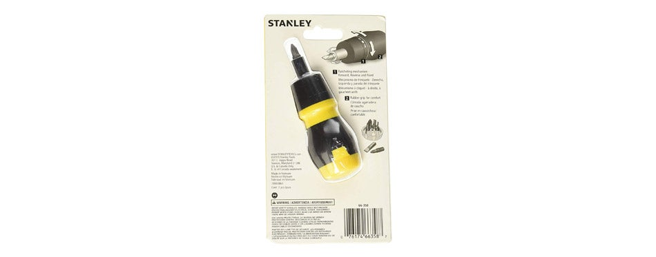 Stanley Stubby Ratcheting Screwdriver