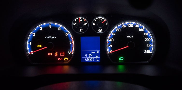Car dashboard instrument panel