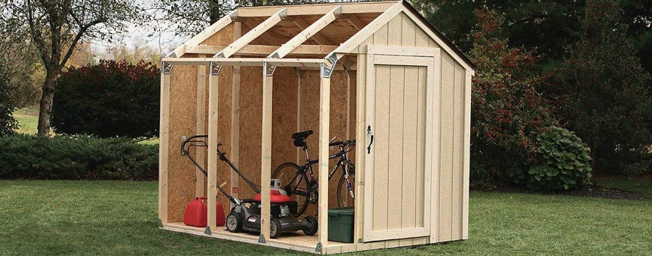 Custom Shed Kit with Peak Roof