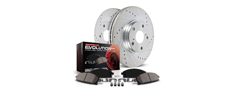 Power Stop Front Brake Kit with Drilled/Slotted Brake Rotors