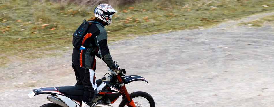 young man wearing riding protected while wearing best adventure motorcycle jacket